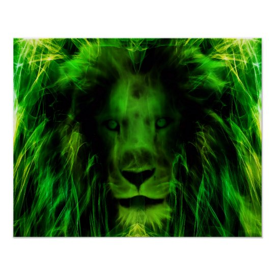 Green lion poster