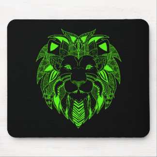 Green Lion With Background Colour of Your Choice Mouse Pad