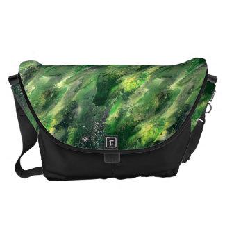 Green Liquid camo Bag Messenger Bags