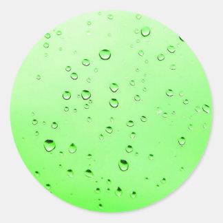 Green liquid classic round sticker