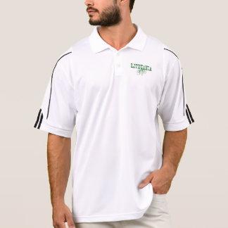 Green Lithuania Roots Word Art Men's Polo Shirt