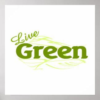 green live print