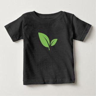 Green Living | Green Black Graphic Design Baby T-Shirt