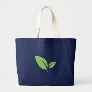 Green Living | Green Blue Graphic Design Large Tote Bag