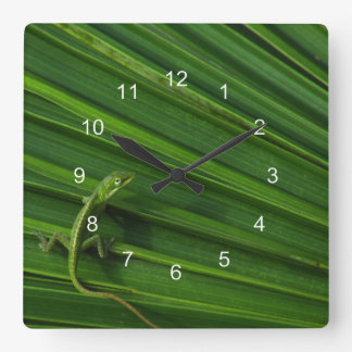 Green Lizard Clock