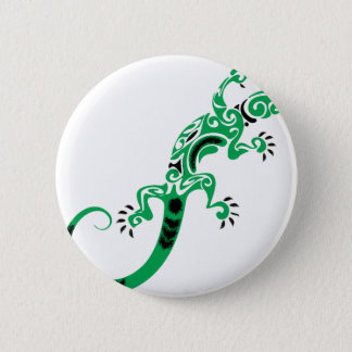Green Lizard Drawing 2 Inch Round Button