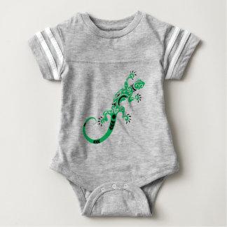 Green Lizard Drawing Baby Bodysuit