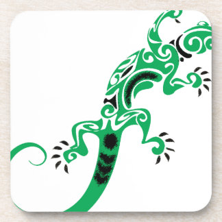 Green Lizard Drawing Coaster