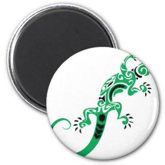 Green Lizard Drawing Magnet