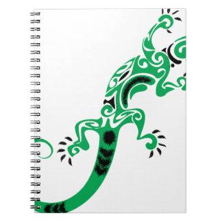 Green Lizard Drawing Notebooks