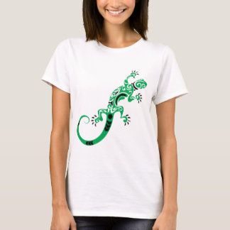 Green Lizard Drawing T-Shirt