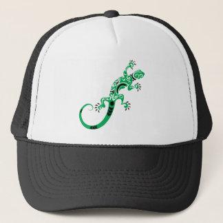 Green Lizard Drawing Trucker Hat