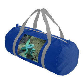 Green Lizard Duffel Bag