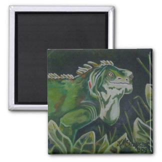 Green Lizard Iguana Magnet