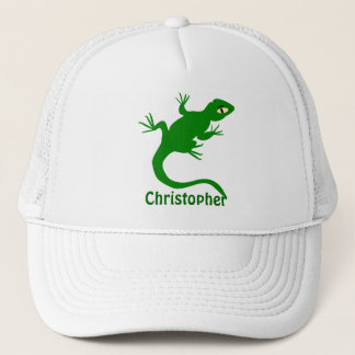 Green Lizard Just Add Name Trucker Hat