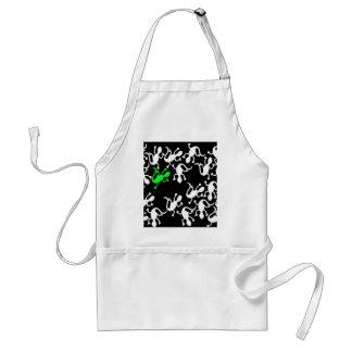 Green lizard pattern standard apron