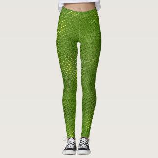 Green Lizard Print Leggings