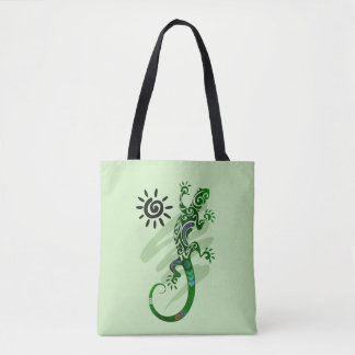 Green Lizard Tote
