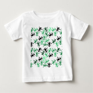 Green lizards pattern baby T-Shirt