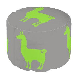 Green Llama Pouf