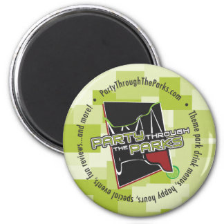 Green Logo Magnet - Party Through The Parks