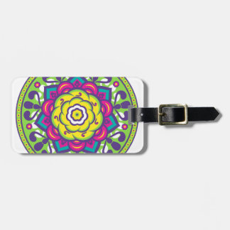 Green Lotus Mandala Luggage Tag