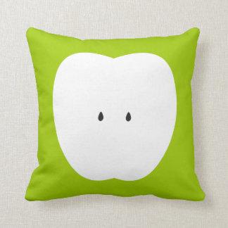Green Love Apple Summer Fun Throw Pillow