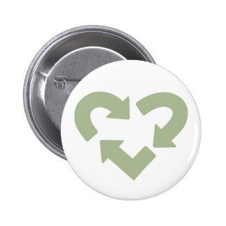 Green: Love Your Mother button