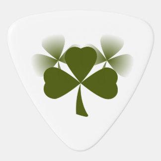 Green Lucky Charm Shamrock St Patrick's Day Guitar Pick