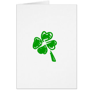 Green lucky charm St. Patrick day Card