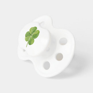 Green lucky Four-leaf clover Shamrock hand painted Pacifier