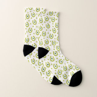 Green Lucky Horseshoes and Shamrocks Socks