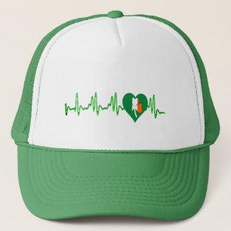 green lucky Irish shamrock st patricks day Hat