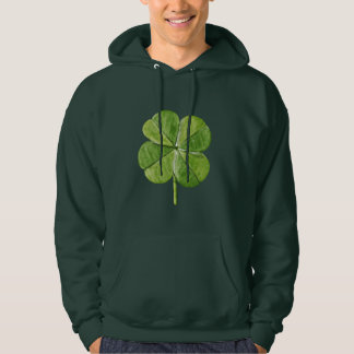 Green lucky shamrock clover Saint Patrick Day Hoodie