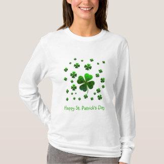 Green lucky shamrocks T-Shirt