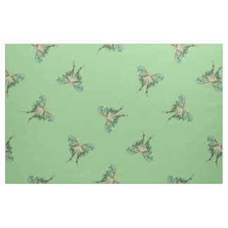 Green Luna Moth Pattern Fabric