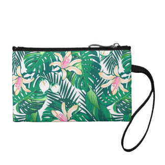Green lush plants coin purse