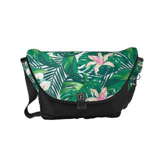 Green lush plants courier bag