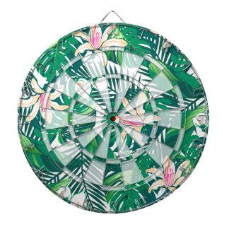 Green lush plants dartboard