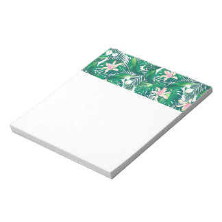 Green lush plants notepad