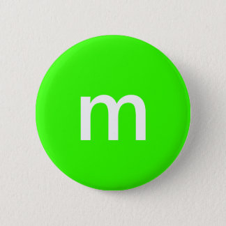 Green m&m 2 inch round button