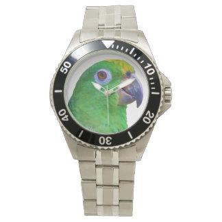 Green Macaw Parrot Customizable Watch