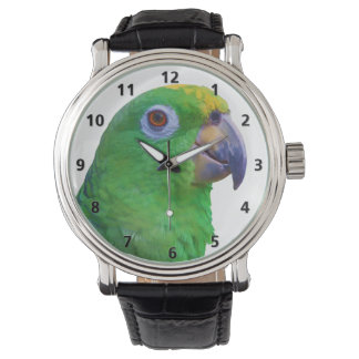 Green Macaw Parrot Customizable Watches