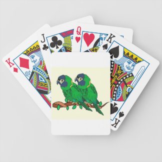 green macaw parrot love art bicycle playing cards