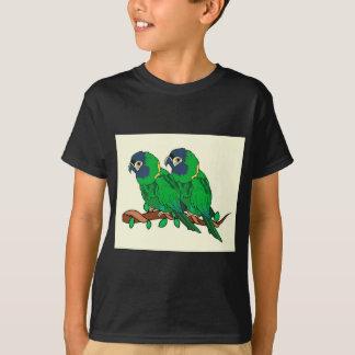 green macaw parrot love art T-Shirt
