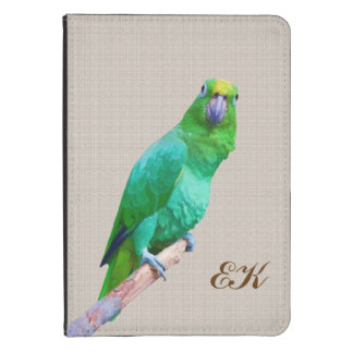 Green Macaw Parrot on a Limb Kindle Cover