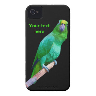 Green Macaw Parrot on a Limb Customizable iPhone 4 Cover