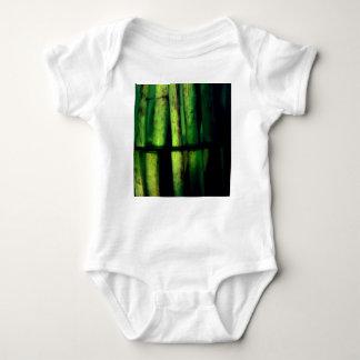 Green macro baby bodysuit