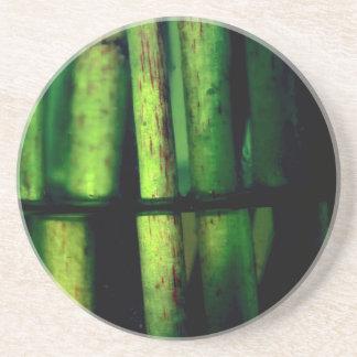 Green macro beverage coasters