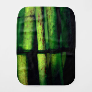 Green macro burp cloths